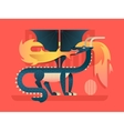 Dragon flat concept vector image