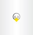 funny bird duck face icon vector image