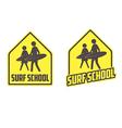 Surfing school logo vector image