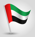 united arab emirates flag on pole vector image
