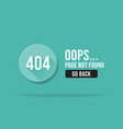 404 error page not found web page banner template vector image vector image