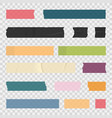 adhesive tape sticky paper stripes colorful vector image