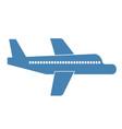airplane simple art geometric vector image vector image