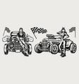 american custom retro cars vintage concept vector image vector image
