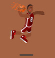 bascketball player dooing dank vector image