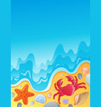beach with shells and sea animals 2 vector image