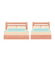 bed icon in flat design cartoon vector image vector image