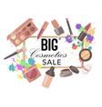 big cosmetics sale banner vector image