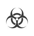 biohazard symbol sign vector image vector image