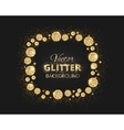 Black and gold background with shiny glitter dots vector image