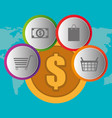 buy on line with coin money vector image vector image