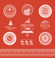 Christmas decoration set of design elements labels vector image
