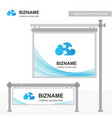 company advertiesment banner design with blue vector image