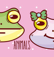 cute animals cartoons vector image