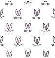cute bunny seamless simple pattern rabbit head vector image vector image