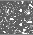 Cute snowmen repeated in winter holiday pattern