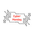 cyber monday with pcb elements vector image vector image