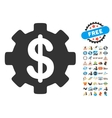 Development Cost Icon With 2017 Year Bonus Symbols vector image vector image