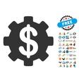 Development Cost Icon With 2017 Year Bonus Symbols