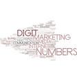 digit word cloud concept vector image vector image