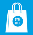 duty free shopping bag icon white vector image vector image