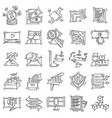 e-commerce icon set hand drawn icon set outline vector image