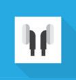 ear muffs icon flat symbol premium quality vector image