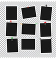empty black and whitel attached photos collection vector image vector image