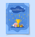 finance business achievement people around trophy vector image vector image