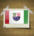 Flags Bosnia and Herzegovina Federation at frame vector image