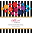 Floral greeting card with paper flower and gold vector image vector image