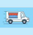 food delivery picnic car truck with food food vector image vector image