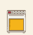 gas stove plates flat vector image