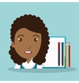 girl student female icon vector image