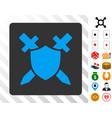 guard blue icon with bonus vector image vector image