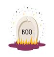 halloween card with cartoon gravestone vector image vector image