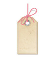 hanging tag vector image vector image