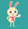 Happy Bunny Holding Phone vector image vector image