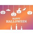 happy halloween october 31st hanging pumpkins and vector image vector image