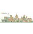 harrisburg pennsylvania city skyline with color vector image vector image