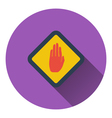 Icon of Warning hand vector image vector image