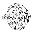 Isolated head of lion vector image