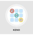 Keno flat icon vector image vector image
