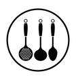 Ladle set icon vector image