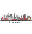 liverpool skyline with color buildings isolated vector image vector image