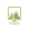 location mountains gps map and navigation vector image vector image