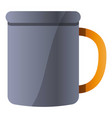 metal mug icon cartoon style vector image vector image