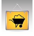 mining icon vector image vector image