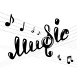 Music logo on white vector image vector image