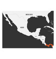 panama orange marked in political map of central vector image vector image